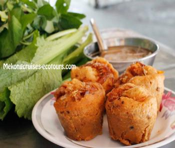DEEP FRIED SHAPE CAKE ( BANH CONG)- How to make cakes, How to make special cakes in Mekong