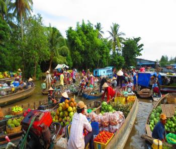 PHONG DIEN FLOATING MARKET- Mekong Ecotour - Mekong Tours